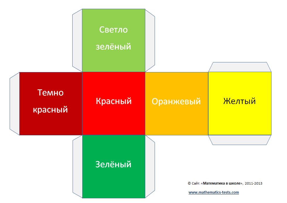 схема и шаблон куба из