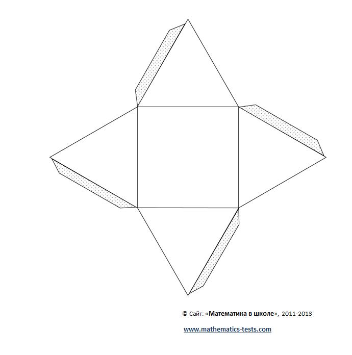 шаблон и схема пирамида из