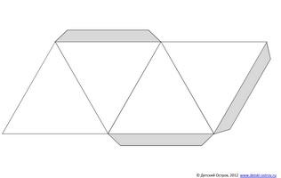 Простая развёртка тетраэдра