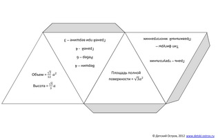 Развёртка тетраэдра формулы