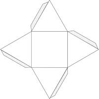 Как сделать из картона пирамиду