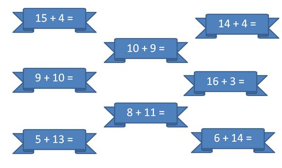 презентация 2 класс математика устный счет в пределах 20