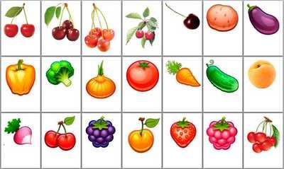 Картинки овощи по одному для детского сада